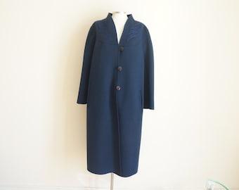 Vintage Navy Blue Coat