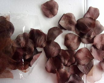 Flower PETALS inside fabric and organza x 120-color chocolate - REF.   11811