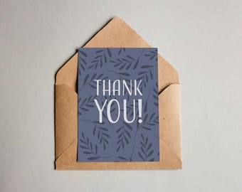 Blue Branches Blank Greeting Card
