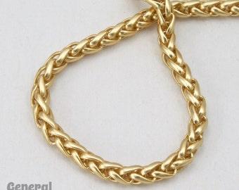 3mm Matte Gold Wheat Chain #CCH214