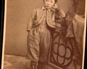 1869 Italian boy antique cdv by D Lasagna of Parma
