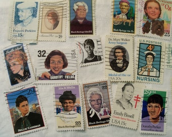 40 Women Postage Stamps, Postage Stamps, Used Stamps, Famous Women