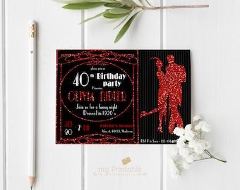 Roaring Twenties Invitation / Printable