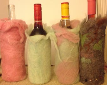 Felted Wine bottle covers
