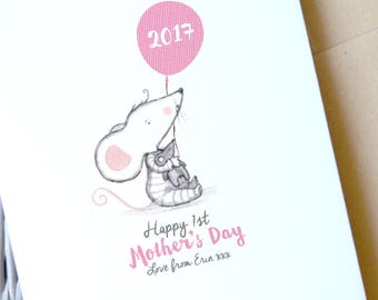 Mother's Day card | Personalised First Mother's Day Card