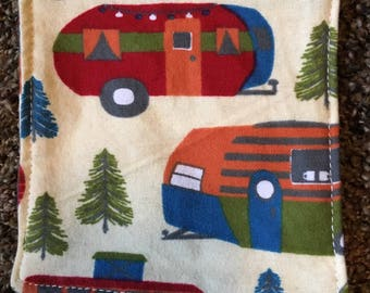 12 Camper Flannel Cloth Wipes