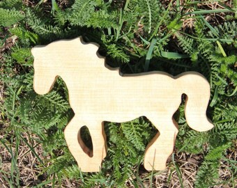 Horse Family / Wood Horse / Wooden Horse Toy / Foal/ For Toddlers / Wooden farm animals