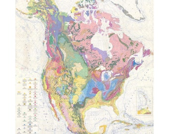 Geologic Map Of North America Print