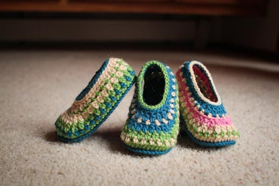 Crochet Slipper Pattern Galilee Slippers Child Through