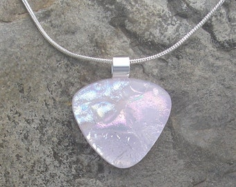 Pink Pendant Dichroic Necklace Dichroic Glass Pendant Dichroic Pink Jewelry