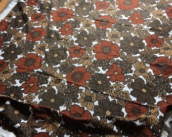 Vintage floral bedspread, generous single size, proceeds to charity
