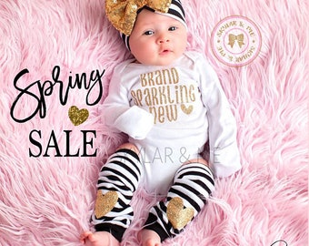 Baby Girl Clothes BRAND SPARKLING NEW® Bodysuit Shirt Baby Shower Gift Bodysuit Baby Girl Shirt