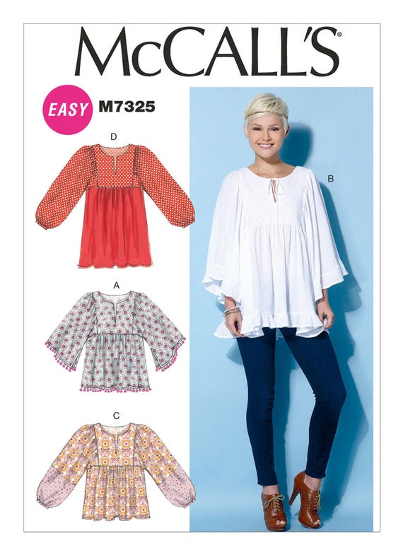 Sewing Pattern for Misses\' Gathered Tops and Tunic, McCall\'s Pattern ...
