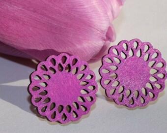 Daisy -Stud Earrings (lilac)