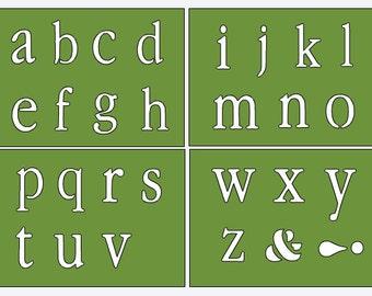 Lower Case Alphabet Stencils for Onesie Painting - Create Your Own Onesie - DIY Onesie