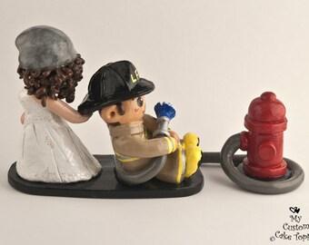 Crossfit Bride And Groom Cake Topper