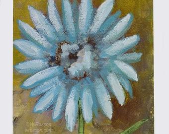 Blue Daisy, Original Painting, Blue Flower, Garden, Spring, Daisy, Winjimir, Home Decor, Office, Wall Art, Wall Decor, Design, Gift, Art