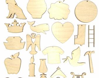 Jesse Tree (Qty 25 Pcs Per Set) Unfinished Flat Wood Shape Cut Out JT4501C Laser Crafts LaserWoodys Lindahl Woodcrafts