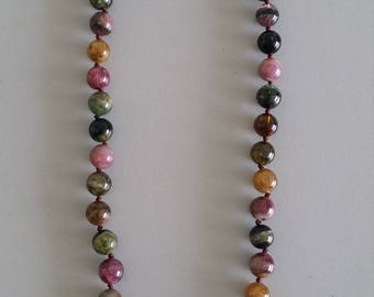 Tourmaline Necklace with Baroque Pearl Feature