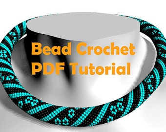 Bead crochet PATTERN / bead crochet tutorial / beading pattern / bead pattern / necklace tutorial / жгут из бисера схема / beading tutorial