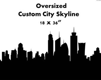 "Custom Oversize Skyline - 18x36"""