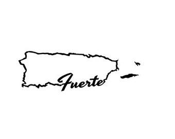 Puerto Rico Fuerte SVG