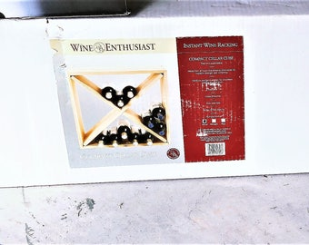 Wine Enthuaist 24 Bottle Solid Wood Storage Cube New in the Box