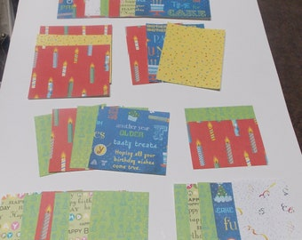 Birthday paper pack scrapbook paper pack assorted paper pack
