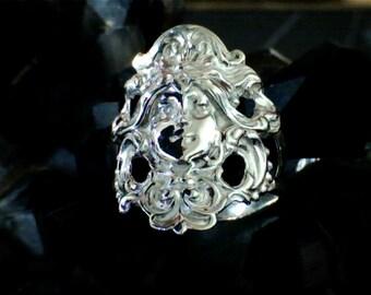 Art Nouveau Goddess Ring