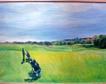 Golf and Nature Original Oil Painting