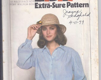 Simplicity Pattern # 8508 from 1978   Shirt Dress with front button closure.  Bust  31 1/2-34  UNCUT