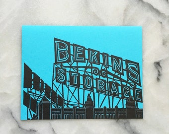 Bekins Storage Neon Sign, Single Card