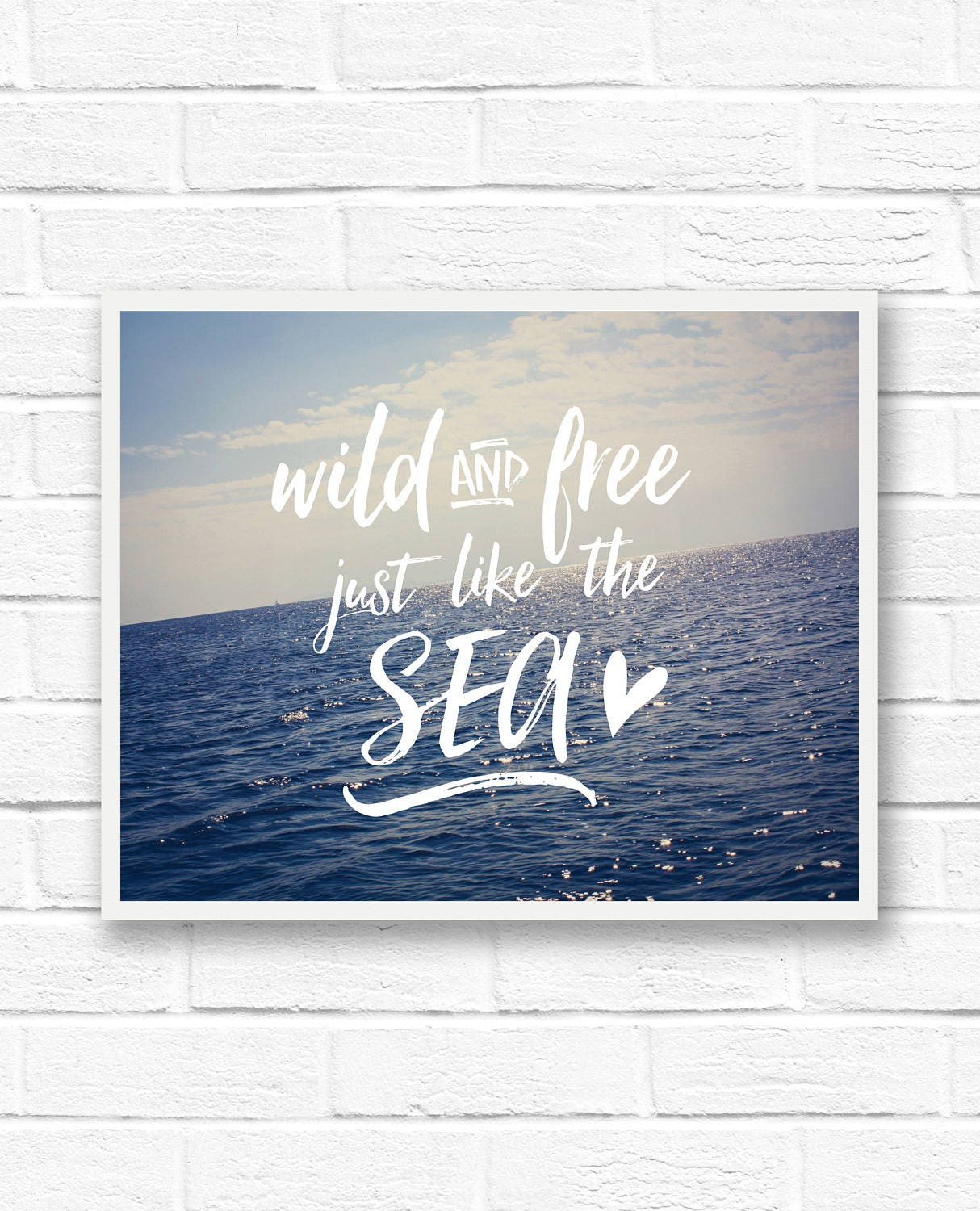 Ocean Quotes Beach Quotes Word Art Print Ocean Wall Art