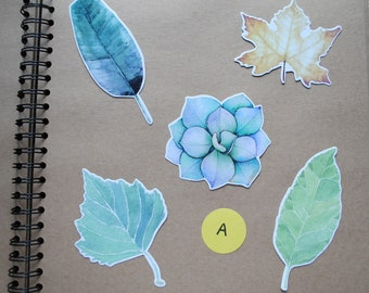 5 Shaped Leaf and Plant Postcards for Snail Mail, Pen Pals, Journal Inserts, Scrapbooking, Party Bags, Stationery, Greetings Cards