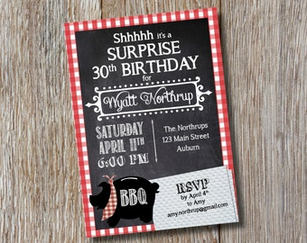 Printable | Barbeque Invitation