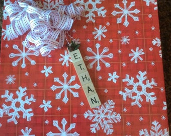 Personalized scrabble tile Ornaments~Up to 5 letters