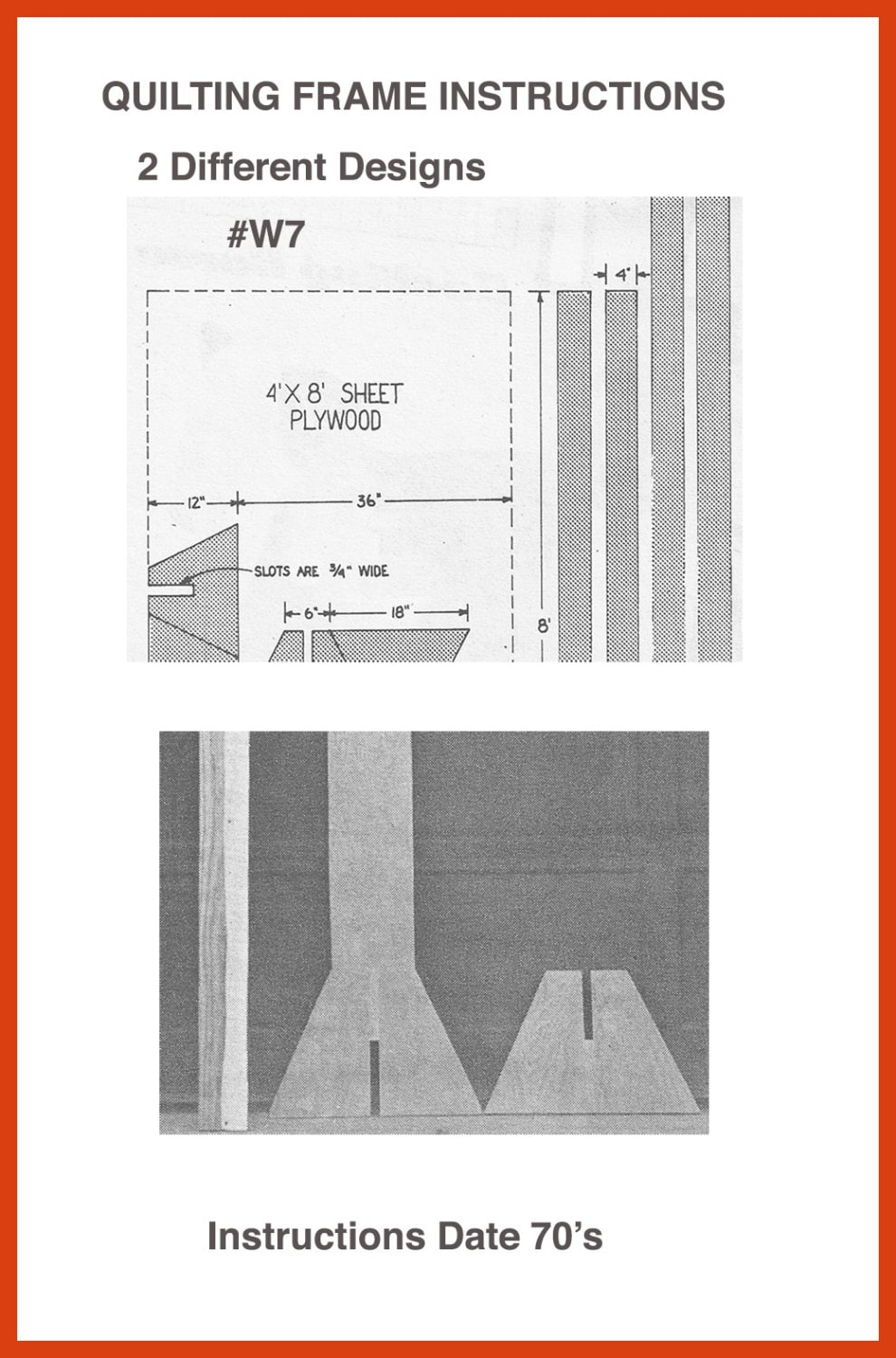 Quilt Frame Woodworking Pattern Instructions For 2 Designs Of
