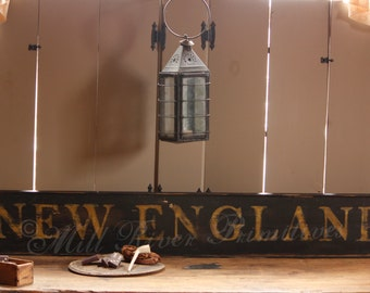 Early looking Antique Primitive NEW ENGLAND Wooden Sign