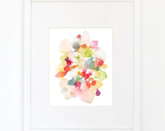 Waltz in Apple Green - Watercolor Art Print