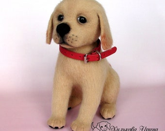 Felted puppy Lord (make to order)