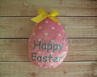 Personalized Stuffed Minky Easter Egg Toy Soft and Plush for Baby or Easter Basket