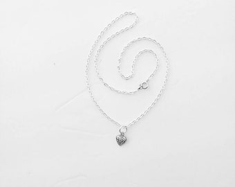 Sterling silver heart pendant  necklace.