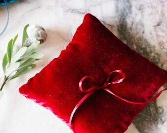 Ring Bearer Pillow, Red Ring Pillow, Wedding Pillow, Wedding Ring Pillow, Ring Bearer, Lace Ring Pillow, Rustic Wedding, Ring Cushion