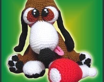 Amigurumi Pattern Crochet Skippy Puppy Dog DIY Digital Download
