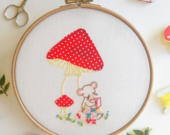 Sweet Stories - Mouse Hand Embroidery PDF Pattern