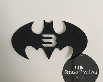 Batman Birthday, Batman Cake Topper, Cake Topper, Cupcake Toppers