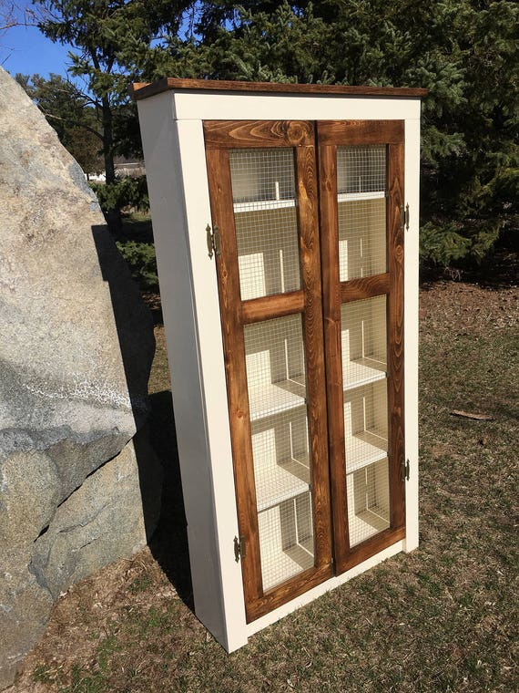 Amazing Tall Farmhouse Pantry Cabinet