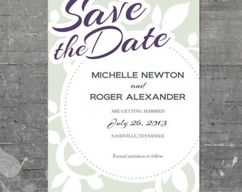 Antique Save the Date - Printable