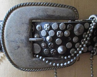 Vintage Michael Morrison MX Studded Leather Belt from the 1980s