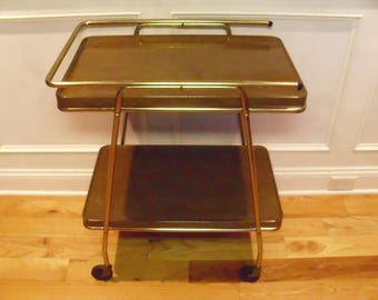 ON SALE  Vintage  1950's/1960's  Cosco 2 Tiered Rolling Cart w/Extendable Top